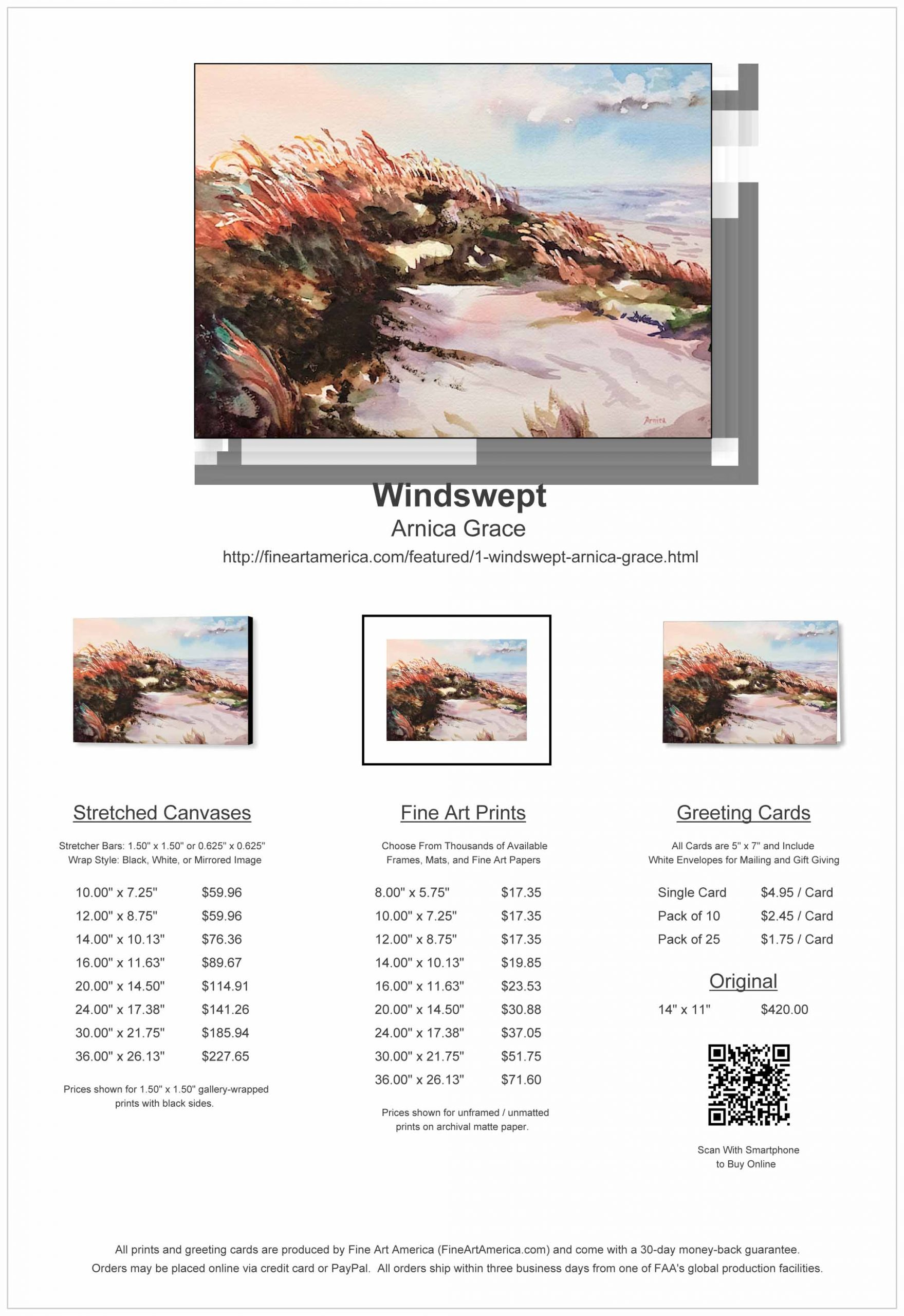 'Windswept' Price Sheet
